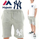 MAJESTIC(マジェスティック) ニューヨークヤンキース ハーフパンツ スウェットショーツ MM12-NYK-0008 GRY