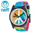 ネフ 時計 メンズ レディース 「DAILY WOVEN」 NEFF 腕時計 ロゴ入り 男女兼用 シンプル BLACK
