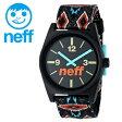NEFF 腕時計 ロゴ入り 男女兼用 シンプル ネフ 時計 メンズ レディース 「DAILY WOVEN」 BLACK