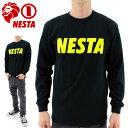 【セール】NESTA メンズロンT 長袖Tシャツ ネスタ プリントTシャツ 定番 カットソー シンプル LS1503F
