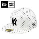 NEWERA 59FIFTY Polka Dot 黒 ニューエラ キャップ ポルカドット ニューヨークヤンキース 男女 帽子 CAP