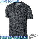 ナイキ メンズランニングTシャツ プリンテッドマイラー S/S トップ 半袖 マラソン ジョギング NIKE 596207 陸上 人気 おすすめ 即納 トレーニングウェア 通販 販売 プラクティスシャツ 部活 練習着