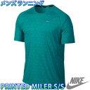 ナイキ メンズランニングTシャツ プリンテッドマイラー S/S トップ 半袖 マラソン ジョギング NIKE 596207