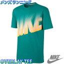 ナイキ メンズTシャツ トレーニングウェア ロゴTシャツ ナイキオーバーレイTシャツ NIKE 611926 ビッグロゴ