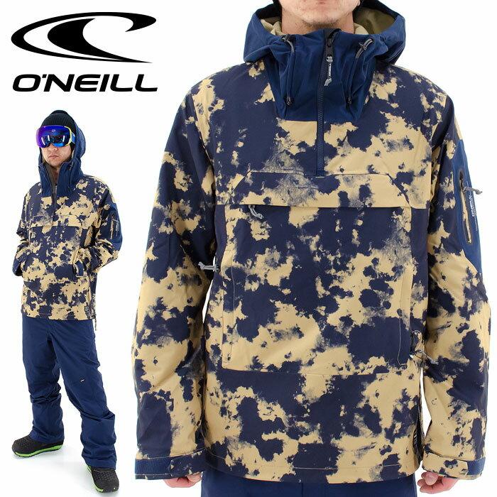 ONEILLスノーウェア646103オニールプルオーバージャケットメンズスキーウェア総柄スノージャケ