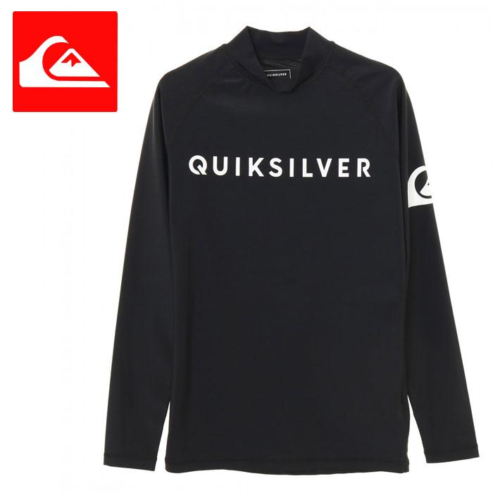 メンズラッシュガード長袖シンプル黒プルオーバーストレッチUPF50+紫外線対策QLY191002QU