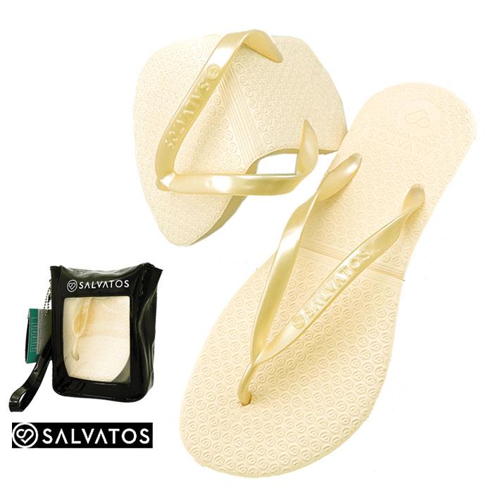 サルバトス 折りたたみサンダル シャンパン SALVATOS FLIP-FLOP レディースサンダル ビーチサンダル