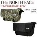 ショッピングイス ノースフェイス クロスバッグ THE NORTH FACE メンズ レディース ML MESSENGER BAG メッセンジャーバッグ JUNGLE GREEN ジャングルグリーン BLACK ブラック NN2PJ02A/C バッグ 【中古】未使用品