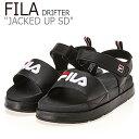 ショッピングシャワーサンダル フィラ サンダル FILA レディース DRIFTER JACKED UP SD ドリフター ジャック アップ BLACK ブラック FS1SIB2021X FLFL9S2W71 シューズ
