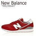 ショッピング996 ニューバランス 996 スニーカー New Balance メンズ レディース MRL 996 AH New Balance996 RED レッド MRL996AH シューズ 【中古】未使用品