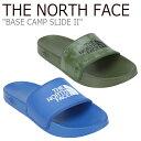 ショッピングベース ノースフェイス サンダル THE NORTH FACE メンズ BASE CAMP SLIDE II ベース キャンプ スライド II KHAKI カーキ BLUE ブルー NS98J82A/B シューズ 【中古】未使用品