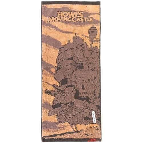 ハウルの動く城 ジャガードフェイスタオル/城と夕焼けN ジブリ ハウルの動く城 ジャガード…...:upswing:10018174