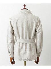 Freemans Sporting Club Linen Cotton Canvas Safari Blouson UF64-17R021: Beige