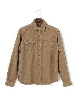 Freemans Sporting Club Lyocell Chino Western Shirt UF64-13R014: Beige