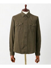 Freemans Sporting Club Lyocell Chino Western Shirt UF64-13R014: Khaki