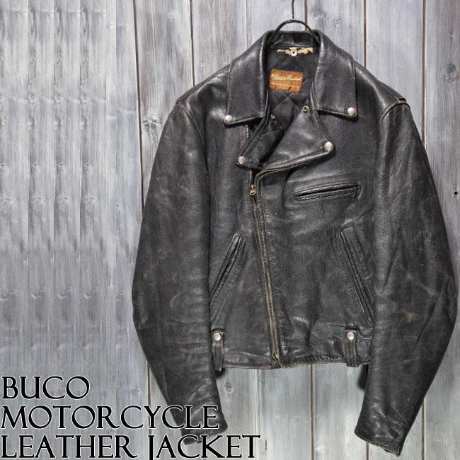 【ajito】Happyend ハッピーエンド 1950's Buco MotorCycle LeatherJacket sz40 ビンテージ ブコ ダブル ライダース ジャケット ヴィンテージ ミリタリー ブルゾン 本革 古着