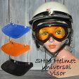 ajito SHM Helmet universal Visor ピーコックバイザー バイク用 バイクアクセサリー ヘルメット バイカー ハーレー アメリカン(BLACK/BLUE/ORANGE)バイク アメリカン 立花 タチバナTACHIBANA