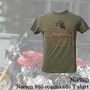 男性流行服飾 - 【ajito】Norton ノートン Norton 850 commando T-shirt ロゴTシャツ 半袖 プリント メンズ 正規取扱マーチャンダイズアイテム バイク(Khaki)カフェレーサー イギリス車 バイク Cafe Racer
