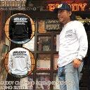 ショッピングLIGHTNING BUDDY オリジナル CLOTHING SOLD AND SERVICED ロングスリーブ Tシャツ バディ ホワイト ブラック 長袖 ヴィンテージ加工 アメカジ トップス 原宿 メンズ ストリート ファッション ライトニング カットソー トップス ロンT