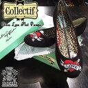 SAVOY CLOTHING COLLECTIF Gina Love Flat Pumps コレクティフ ハート 刺繍 フラット パンプス ラブ サヴォイクロージング ブラック 靴 ブリティッシュ ロカビリー ファッション ビンテージ レトロ 50's サボイクロージング イギリス ロンドン ローズ バレエシューズ