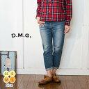 [3/19 9:59迄 P5倍]ドミンゴ DMG パンツ 9分丈 レディース ファッション ナチュラル デニム ジーンズ ◆ 5ポケット アンクル テーパード..