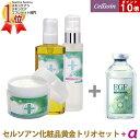 セルソアン黄金トリオセット EGF セルソアンプロフェッショナルシリーズ クレンジング 洗顔 化粧水をセット購入すると人気EGF美容液がもらえるセルソアン クレンジングオイル+エクストラクリームソープ+リバイアローション
