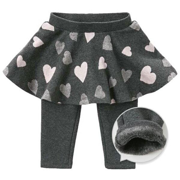 スカッツ女の子キッズベビーハート柄裏起毛スカートパンツレギンス708090100110120130c