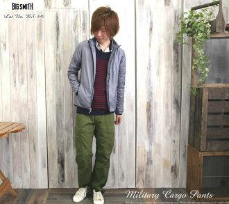 BIG SMITH ( ビッグスミス ) ( BS-490 ) トリコチンミリタリージャーマンカーゴ pants / men's / Rakuten