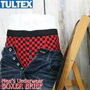 【メンズ】TULTEX(タルテックス)チェッカープリントストレッチ天竺ボクサーパンツ(アンダーウェア・下着・ブリーフ・トランクス)(PBBB1030)【こちらの製品は返品・交換不可】