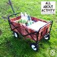 ALL ABOUT ACTIVITY ポータブル カート 折りたたみ アウトドア 台車 (tzz-4) 荷物運搬用 車載OK キャンプ 釣り用 運動会 海水浴用 花 ガーデン DIY 工具 portable cart 10P27May16