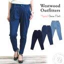 WWO405 ウエストウッドアウトフィッターズ Westwood Outfitters ストレッチ トリックジップ テーパード デニム タックパンツ (8117022 ..