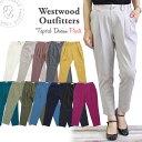 WWO405 ウエストウッドアウトフィッターズ Westwood Outfitters ストレッチ トリックジップ テーパード カラー タックパンツ (8117123)..