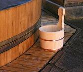 木曽ひのき風呂手桶 単品 【木曽の漆器よし彦】