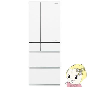 【設置込】NR-F552PV-W パナソニック 6ドア冷蔵庫551L Wシャキシャキ野菜室 スノーホワイト【smtb-k】【ky】