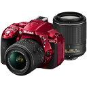 ニコン デジタル一眼レフカメラ D5300 ダブルズームキット2 [レッド]【smtb-k】【ky】【1021_flash】