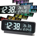 ◎LANDEX ランデックス neoブレンドマスター YT5262BK[日付と温湿度計が付いたデジタル電波時計 置時計のデジタルの電波時計 アラームや..