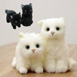 ◎日本製リアル 猫のぬいぐるみ 子猫26cm[プレゼントにも人気のネコのかわいいぬいぐるみ 4種類のねこから選べる!本物の猫に近い作りの心も和む可愛い癒し猫]【即納】