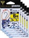 ショッピングフック がまかつ 糸付 チヌ 1m 3号-3 黒 5枚まとめ買い特価 11989(gamakatsu・がまかつ・チヌ)