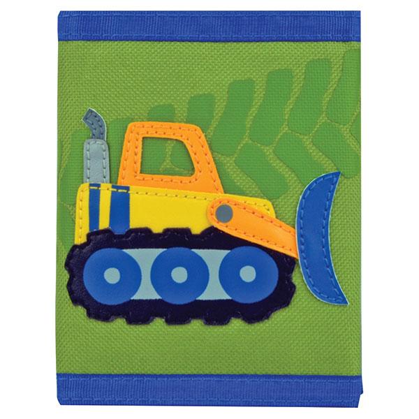 ステファンジョセフ Stephen Joseph 男の子用黄緑ブルドーザーのお財布 働く車 グリーン小銭入れ小物入れ ベビー用ポーチ さいふ 子供用財布 【ラ・クーポンで送料無料】