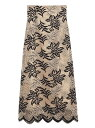 [Rakuten Fashion]バイカラーフラワーレーススカート Lily Brown リリーブラウン スカート ロングスカート ホワイト レッド ブルー【送料無料】