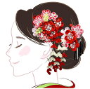 髪飾り 二点セット 赤 ピンク つまみ細工 かんざし wk-226 成人式 振袖 卒業式 浴衣 花かんざし フラワー ヘアーアクセサリー あす楽