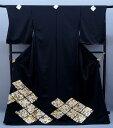 特選品 正絹 総手刺繍黒留袖 to-501 宝尽くしに菱文様 婚礼 結婚式