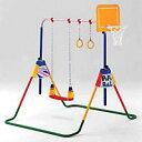 鉄棒ブランコ ポップンロール ぶらんこ 吊り輪 鉄棒 ボール入れ JOB 多機能遊具【RCP】P06May16