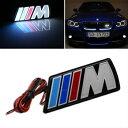 BMW グリル ///M Power LED illumine Front Emblem Front Grille Grill Badge For BMW Universal /// MパワーBMWユニバーサルのフロントエンブレムフロントグリルグリルバッジを照らすLED