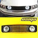 フォード グリル 2005-2009 Ford Mustang V6 Base Black Front Grill Grille Halo Clear Fog Lights 2005-2009フォードマスタングV6ベースブラックフロントグリルグリルヘイロークリアフォグランプ
