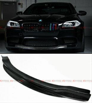 Carbon Fiber Front Bumper Center Chin Lip Spoiler Fits For BMW F10 M5 2012-2016