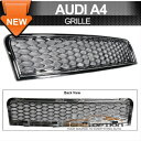 Audi A4 RS グリル 02-05 Audi A4 RS Style Front Grill Grille Chrome 2003 2004 02-05アウディA4 RSスタイルフロントグリルグリルクローム2003 2004