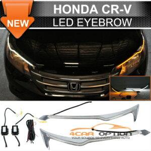 Honda CR-V ヘッドライト 12-16 Honda CR-V LED Eyebrow DRL Headlight Turn Signal 12-16ホンダCR-V LED眉毛DRLヘッドライトウインカー