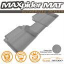 Hyundai Elantra フロアマット Fit 3D Maxpider 13-14 Hyundai Elantra GT 1Pcs Grey Kagu Rubber Floor Mat R2 Row 3D Maxpider 13-14現代エラントラGT 1PCSグレーカグーラバーフロアマットR2行を取り付け