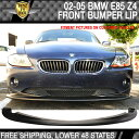 USパーツ 2002-2005 BMW E85 Z4フロントバンパーリップスポイラーDSスタイルポリウレタン 2002-2005 BMW E85 Z4 Front Bumper Lip Spoiler DS Style Poly-Urethane